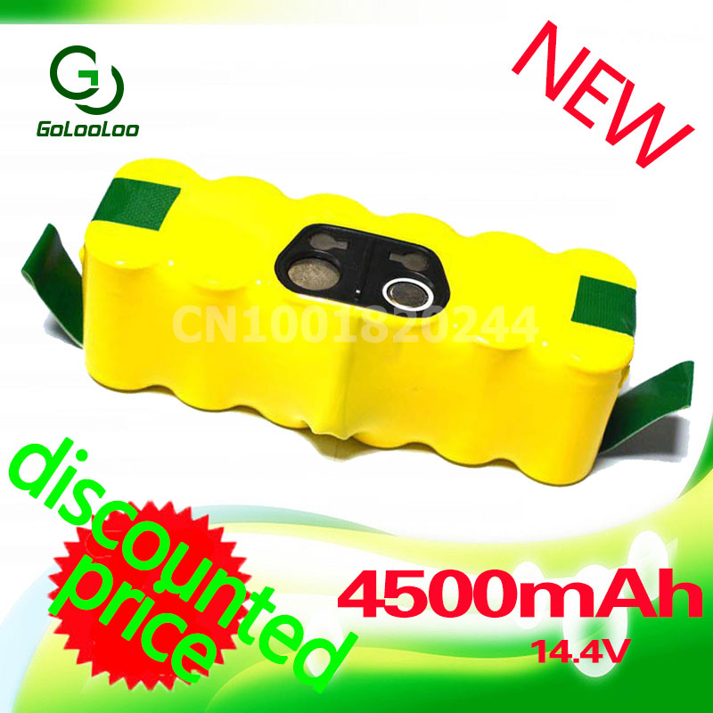 Golooloo NI-MH 14.4V Rechargeable Battery Pack for iRobot 550 530 510 560 570 562 500 581 610 780 532 770 760 R3 625 700 760 770 ultrafire 18650 high capacity 3 7v 5000mah li ion rechargeable battery with charger 2 pack yellow without protection board