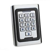RFID metal access control Anti-Vandal Metal Case 2000 Users Proximity ID 125k Standalone Keypad one Door Access Control System