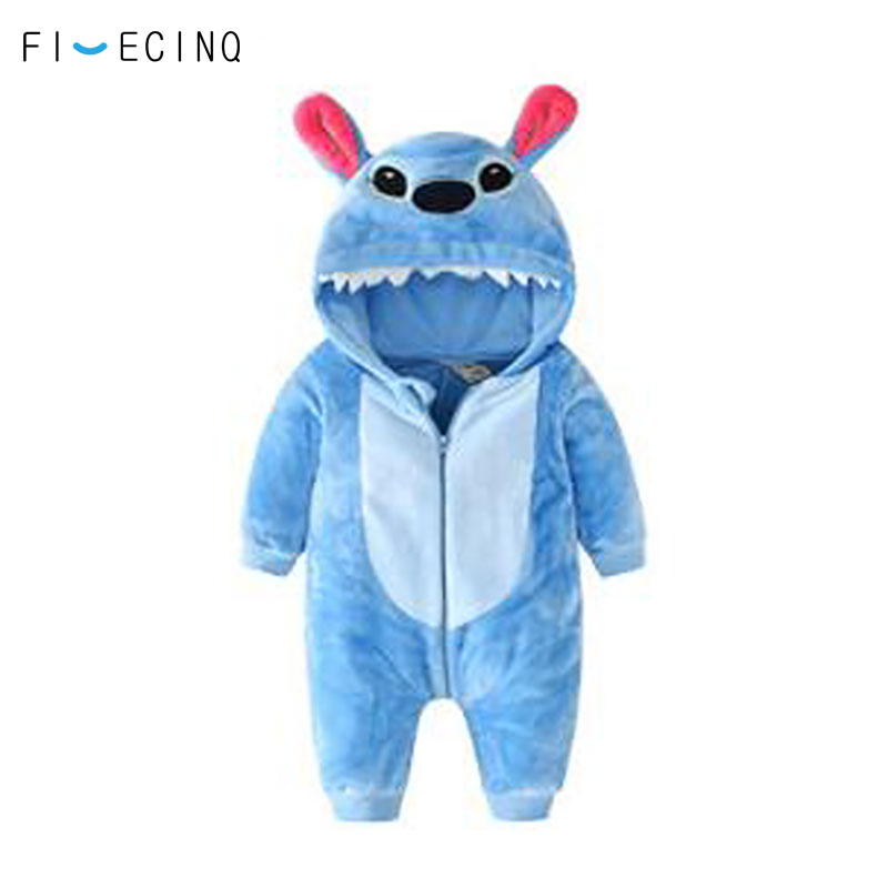 620df2a72d93 Detail Feedback Questions about Stitch Kigurumi Baby Bodysuit Warm Soft  Flannel Blue Pajama Onesie Cartoon Anime Cosplay Costume Birthday Gift  Party Suit ...