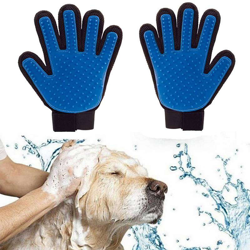<font><b>Pet</b></font> Hair <font><b>Remover</b></font> <font><b>Dog</b></font> Glove <font><b>Brush</b></font> Grooming Silicone Shedding <font><b>Pet</b></font> Massage <font><b>Brush</b></font> For <font><b>Large</b></font> <font><b>Dog</b></font> Glove Rubber Small Cat <font><b>Comb</b></font> Bath