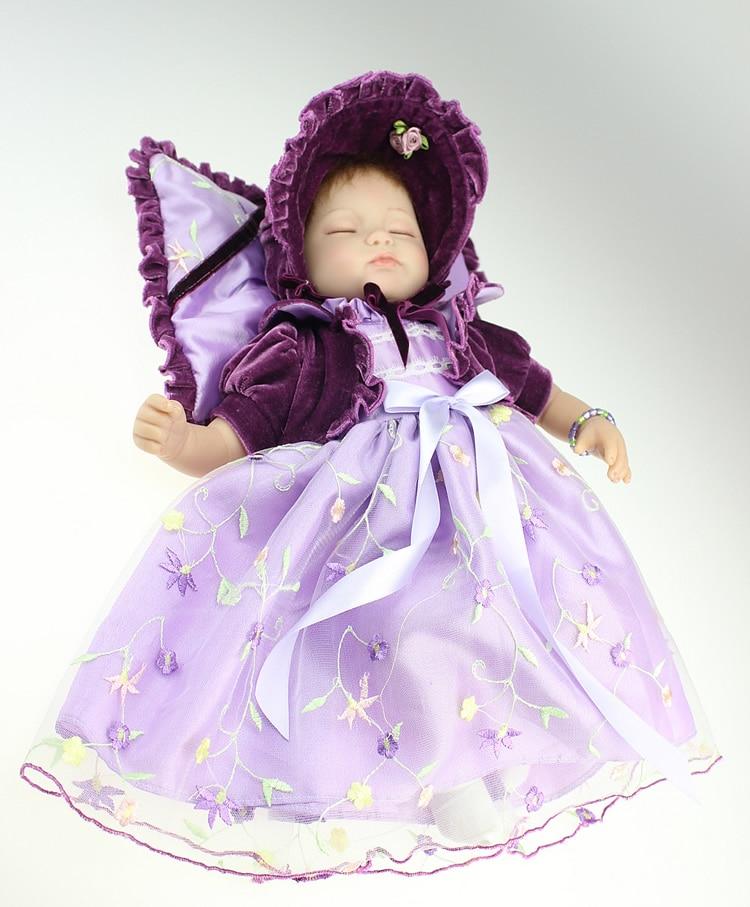 ФОТО 17Inch New Born Baby Dolls Bebe Reborn Menina Children Best Gift Silicone Reborn Baby Dolls for Kids Handmade Princess Bonecas