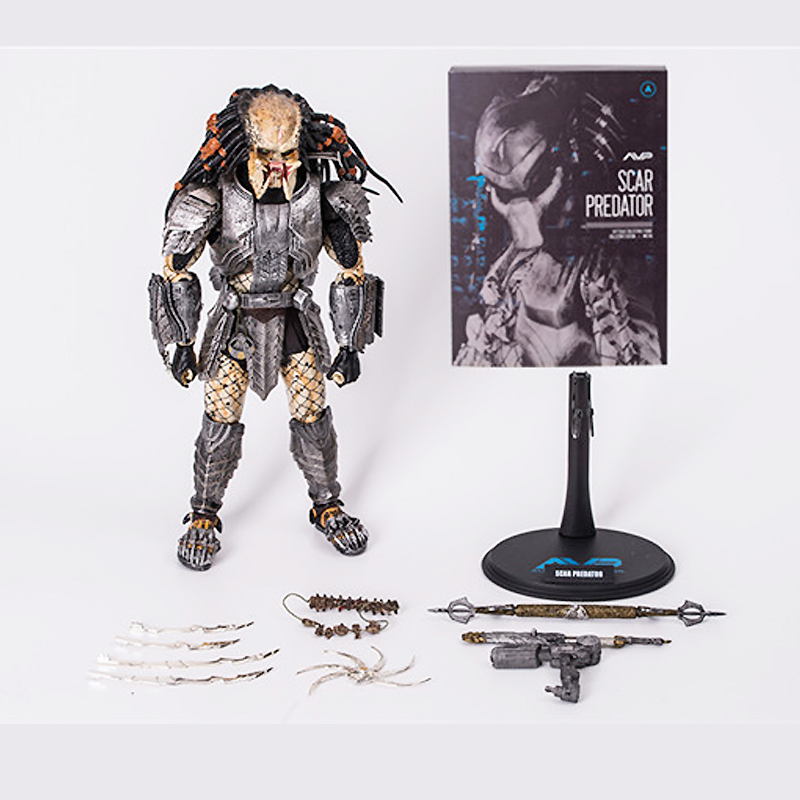 New 1/6 Scale The Predator Action Figure Scar Predator MMS190 PVC Hot Toys For Man Gift For Birthday Doll Anime Figure Model