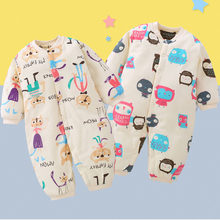 0b40909a6 Invierno Unisex mamelucos de bebé niño niña mono de algodón de abrigo ropa  de bebé canastilla