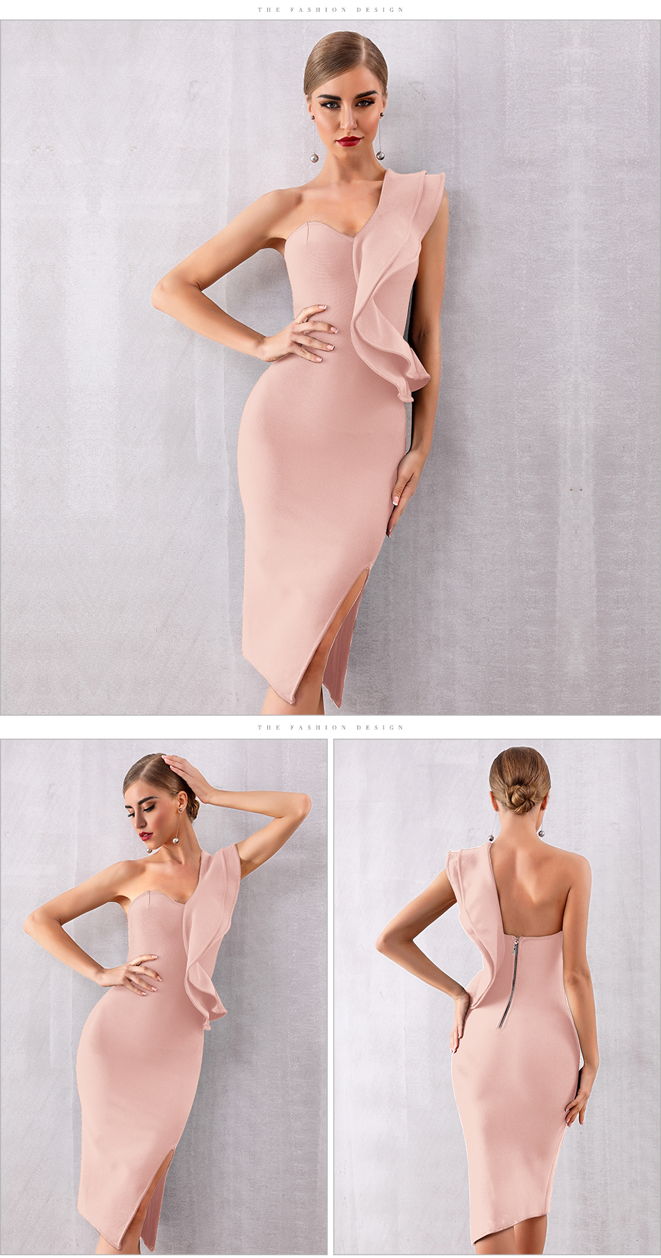 ADYCE 2019 New Summer Women Bandage Dress Celebrity Evening Party Dresses Sexy One Shoulder Ruffles Bodycon Club Dress Vestidos 9