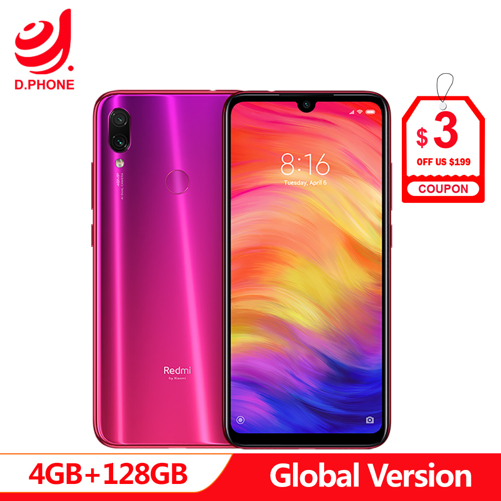 Version mondiale Xiaomi Redmi Note 7 4 GB 128 GB Snapdragon 660 AIE Octa Core 6.3
