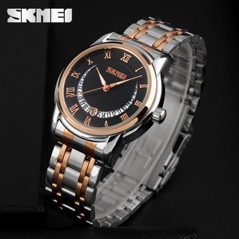9853eb8643e SKMEI reloj de acero inoxidable de los hombres de negocios de lujo reloj de  los hombres de marca famosa