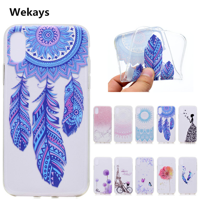 innovative design 2f0b4 19500 US $1.49 25% OFF For IphoneX Cute Cartoon TPU Paris Tower Flower Girl  Butterfly Fundas Phone Cases For Apple Iphone X Back Cover Case Capa  Coque-in ...