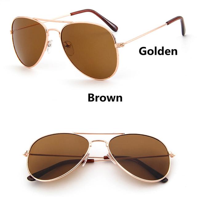 Fashion Kids Aviator Sunglasses Kids Boys Girls Classic Design Silver Frame Blue Lens Pilot Sun Glasses For Children