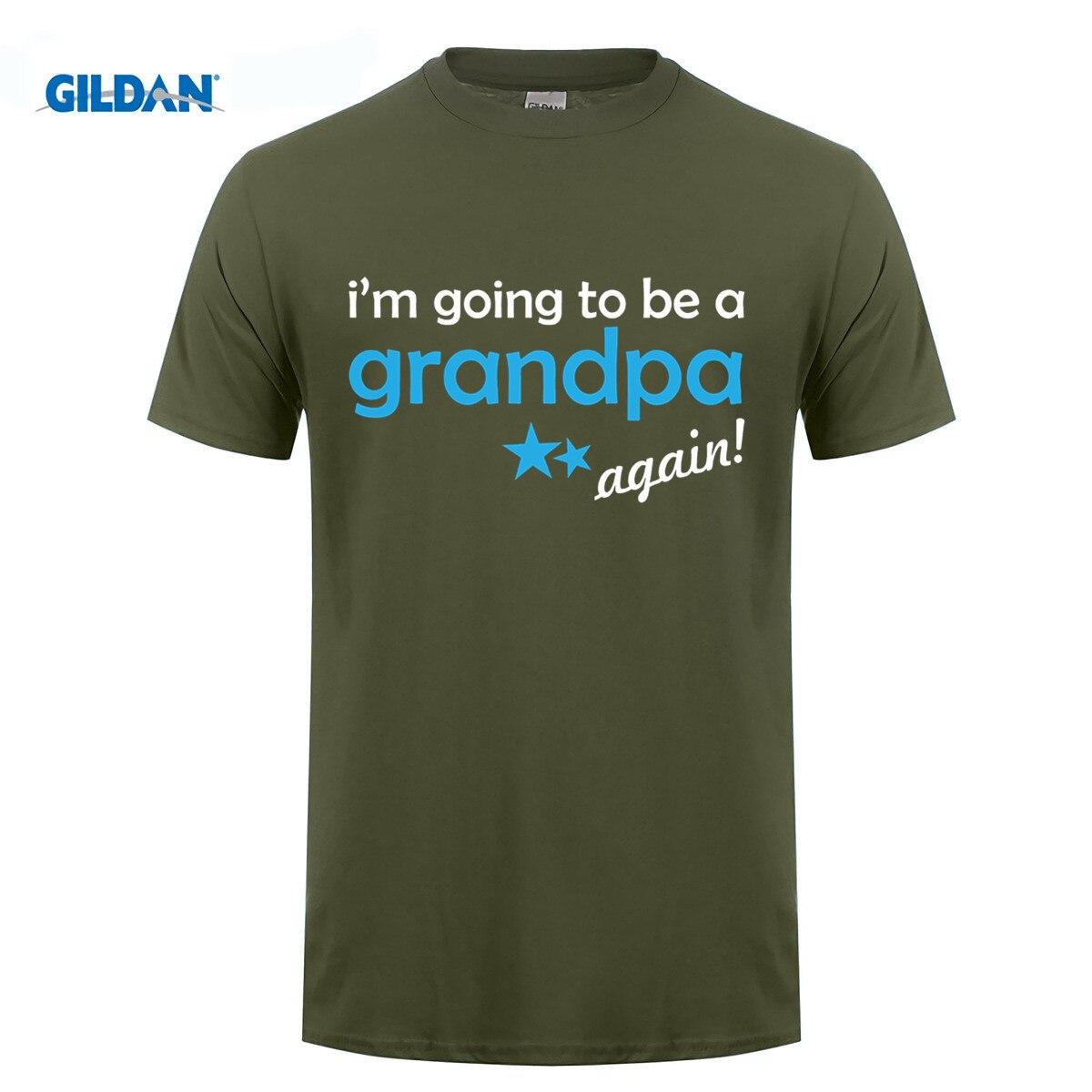 GILDAN Mens Pregnancy Announcement T-Shirt Grandpa Again
