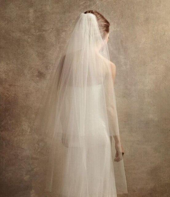 362e865be5cf 2016 Hot Sale White Tulle Bridal Veils Multi Layer Ribbon Edge Crystal  Wedding Accessory Elbow Length