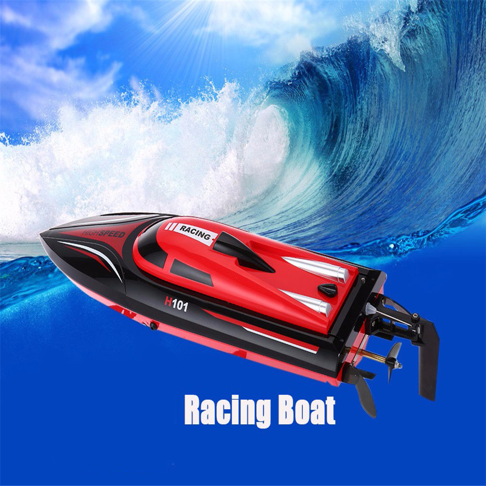 Skytech H101 2.4G Remote Control 180 Degree Flip High Speed Electric 4 Channels Racing RC Boat Speedboat Children Kids Toys Gift extra spare h101 008 upper body shell for floureon h101 remote control quadcopter