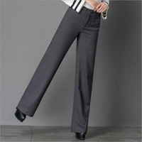 2017 Spring And Autumn Fashion Casual Plus Size High Waist Female Women Girls Pants Trousers Clothes