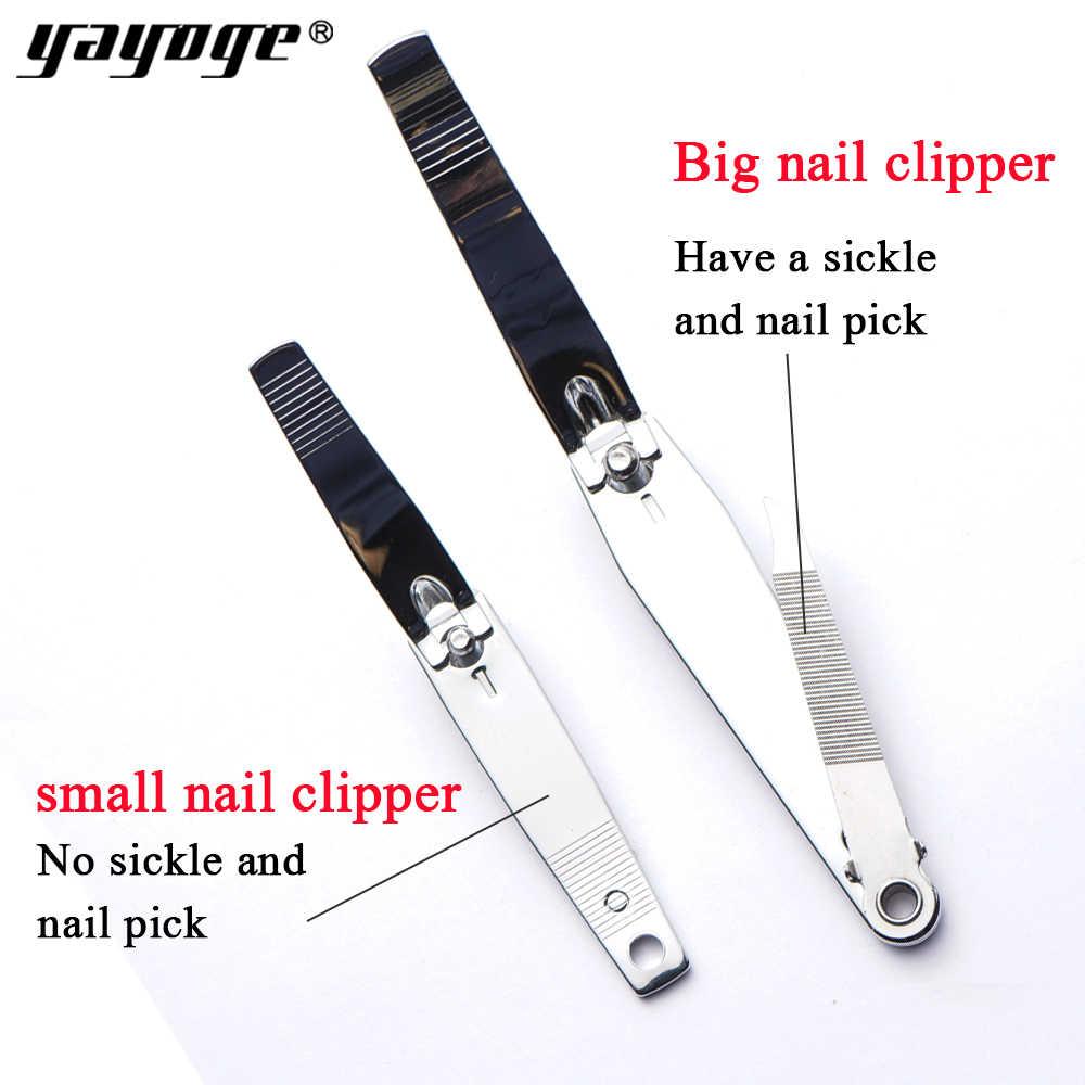Yayoge cortadora de uñas cutícula tijera rotación de 360 grados cortador de acero inoxidable profesional de manicura recortadora de uñas arte