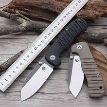 Окаменелое рыбы PF714 Открытый нож AUS-8 подшипник акробатика складной нож G10 тактический нож карманный нож Бесплатная доставка