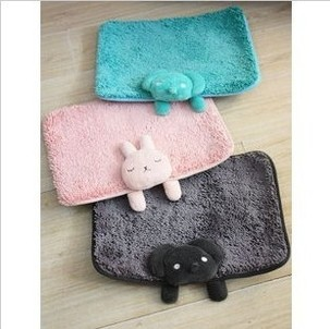 Free Shipping Cute Cartoon Animal Chenille Anti Slip Bath Rugs Doormat Carpet Retail