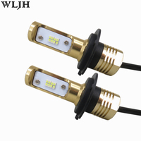 WLJH 2x Xenon White 80W 1200LM H7 Led Light Bulbs For Car 12V 24V Auto LED