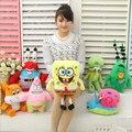 7pcs/set Super Cute Soft Plush Spongebob,Patrick star,Squidward,Tentacles,Mr. Krab,Sheldon Plankton Gary Toys Gift for Children