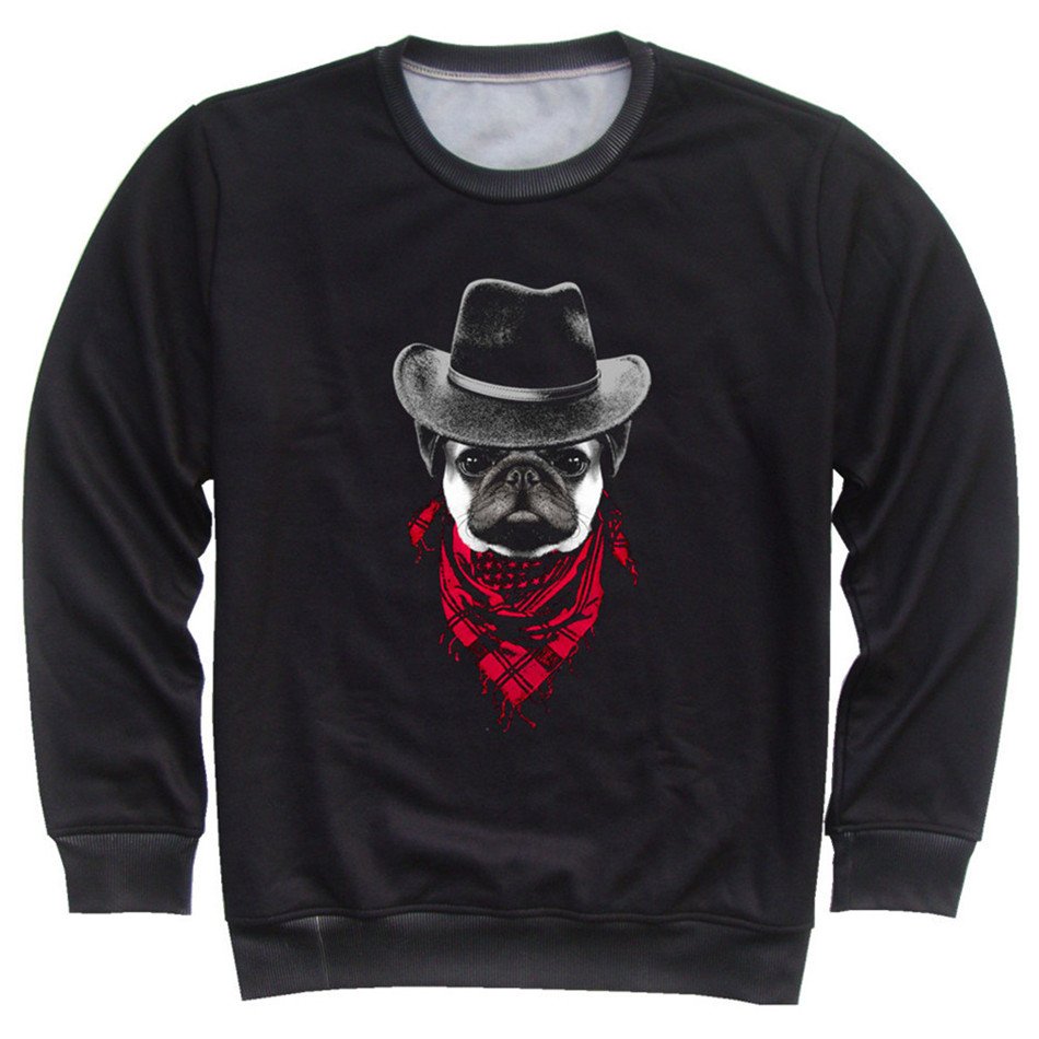 Joyonly 4-11 Years Old Children Fashion 3d Black Sweatshirt Boys Girls Funny Mr Animal Dog Music Printed Hoodies Kids Pullovers