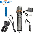 ZK10 Self Defense LED flashlights  XM-L T6 Rechargeable 4000LM Tactical Torch Cycling Camp Light Emergency Defensive lampe