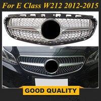 Diamond Grill for Mercedes Benz front bumper grille racing grille E class W212 E200 E280 E300 E240 2012 2015 sport