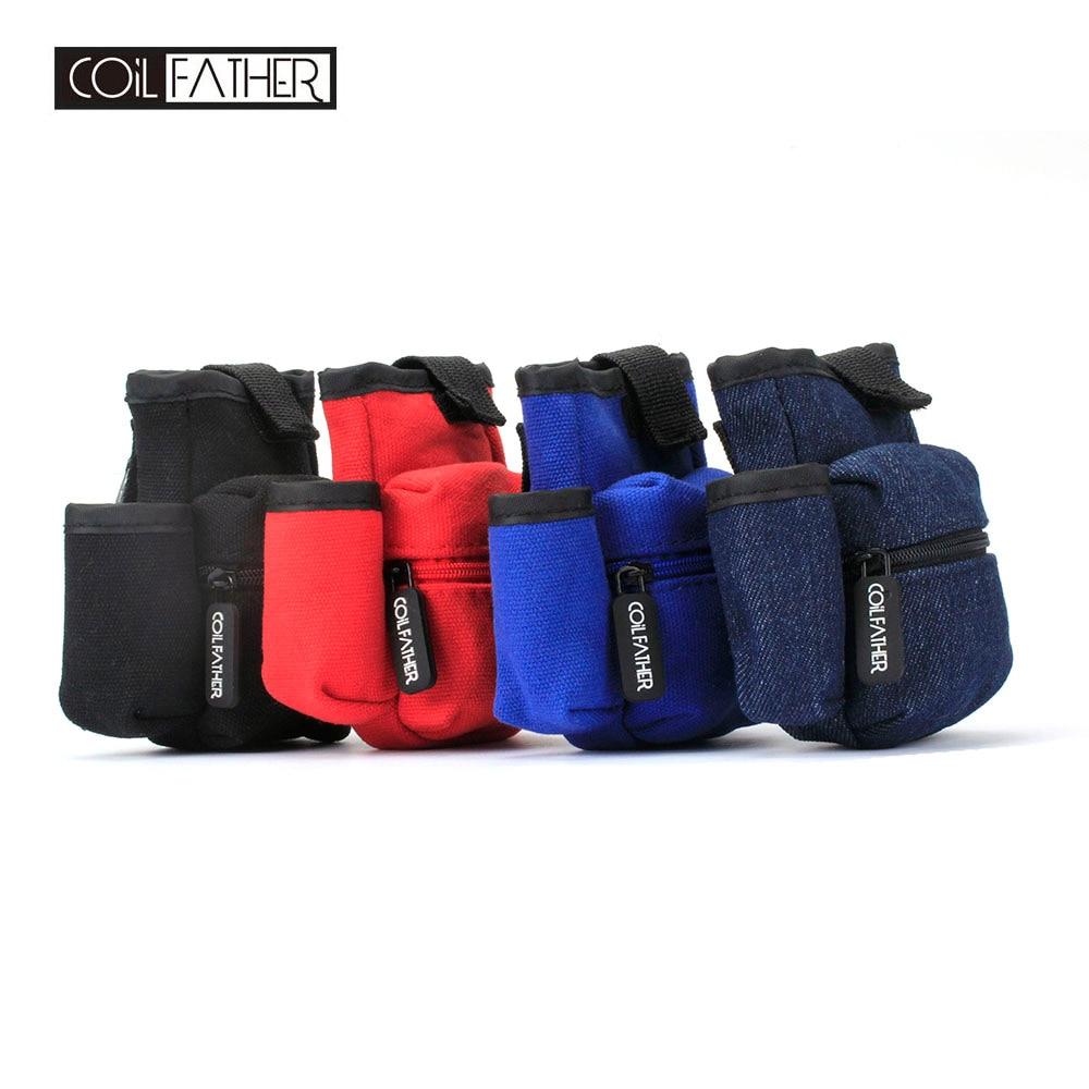 Coil Father Newest Bag Vape Accessories Case Double Deck Carrying Bag For E Cigarette RDA RTA Mech Box Mod Battery Bag