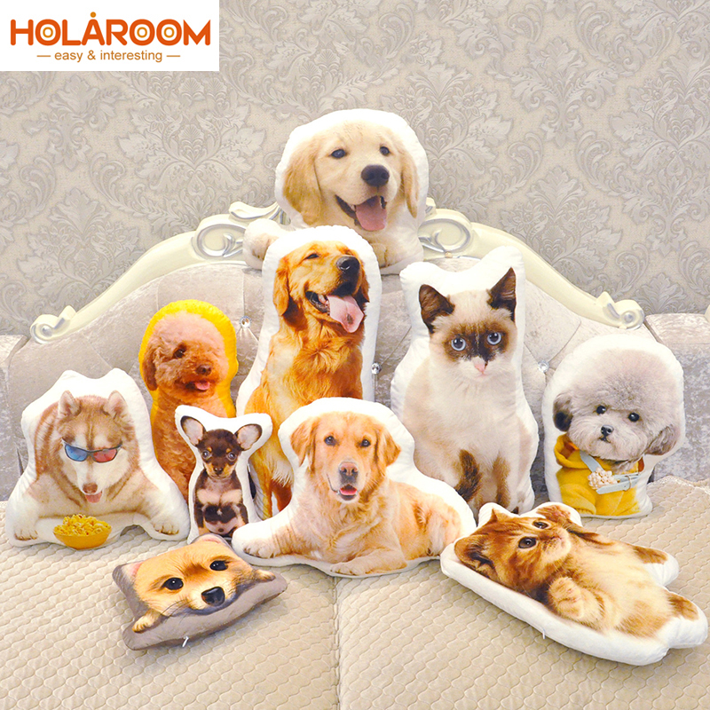 Cute Puppy Plush Cushions Solid Color Cushion Puppy Shape Comfortable Pillow Creative Cushion Personality Can Customize Style