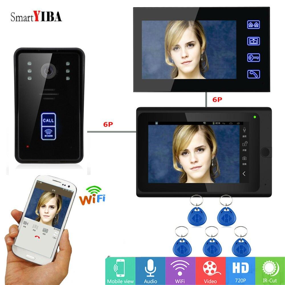 SmartYIBA RFID Wifi Smart Video Intercom System Video Record Take Photo Video Doorbell Interphone Home Door