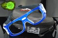 Khung màu xanh Chuyên Nghiệp Ngoài Trời kính Bóng Rổ Bóng Đá Thể Thao kính Goggles mắt trận đấu ống kính quang học cận thị cận th