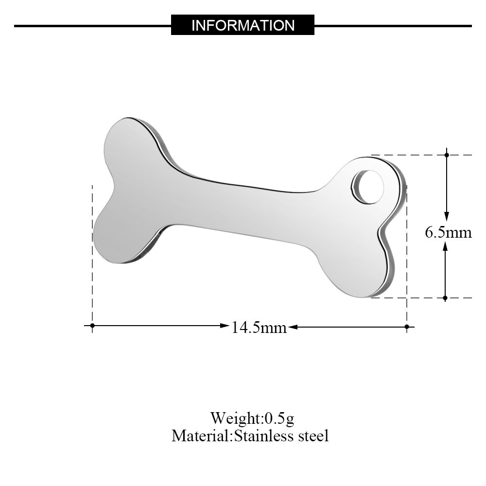 10pcs 316L Stainless Steel Double Sided Polished 14 5x6 5mm Dog Bone Floating Charm Pendant Fit DIY Necklace Jewelry Accessories in Charms from Jewelry Accessories