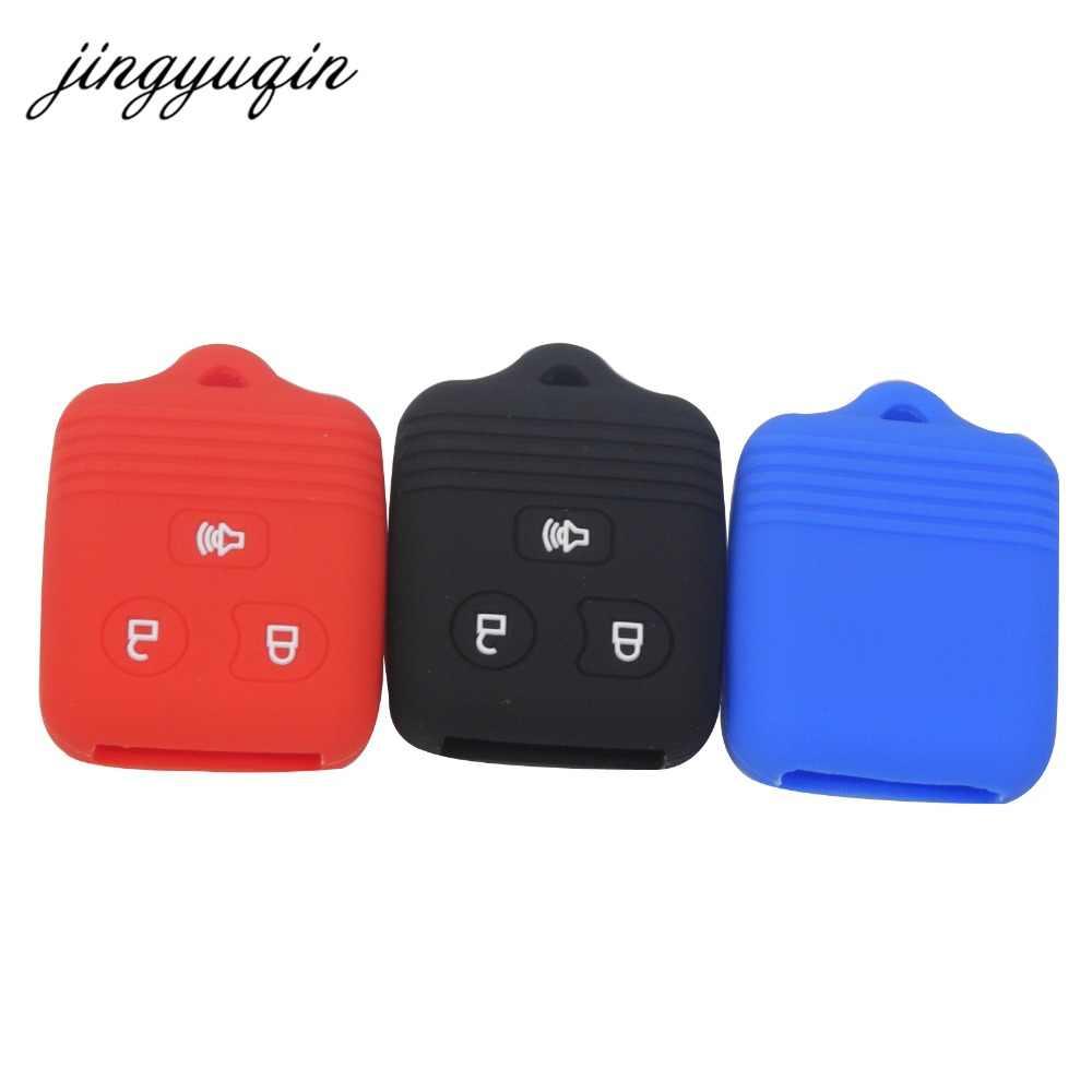 Jingyuqin Silicone Auto Mobil Case Kunci Remote Fob untuk Ford F-150 F-250 Mercury Mazda Pelindung Pemegang Tanpa Kunci Cover