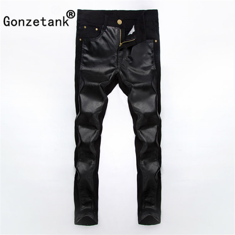 Gonzetank 2017 Small Feet Black Fight the Skin Jeans for Men Classical and Straight Boyfriend Narrow for Low Waisted Size 28~34