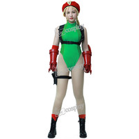 Anime Street Fighter V Cammy Adult Cosplay Costume Halloween Party Women Clothing