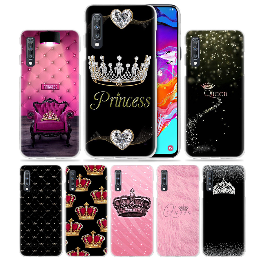 Mom Queen Princess Case for Samsung Galaxy A50 A70 A20e A60 A40 A30 A20 A10 A8 A6 Plus A9 A7 2018 Hard PC Phone Coque Cover Capa in Half wrapped Cases from Cellphones Telecommunications