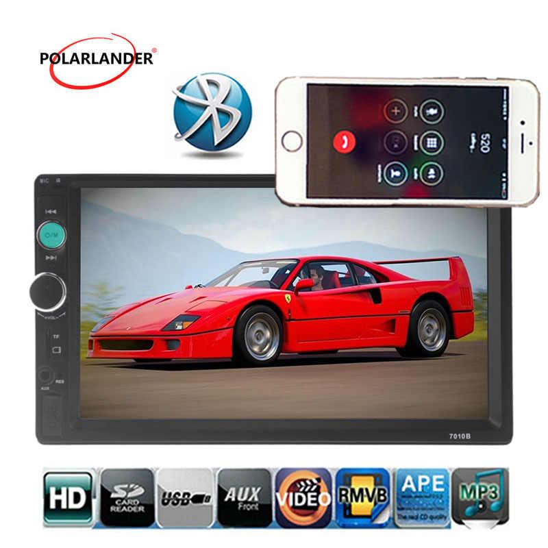 7 インチのタッチスクリーン Autoradio 2 喧騒車のステレオでユニットプレーヤー USB/TF/AUX/FM サポートラジオカセットプレーヤーミラーリンク