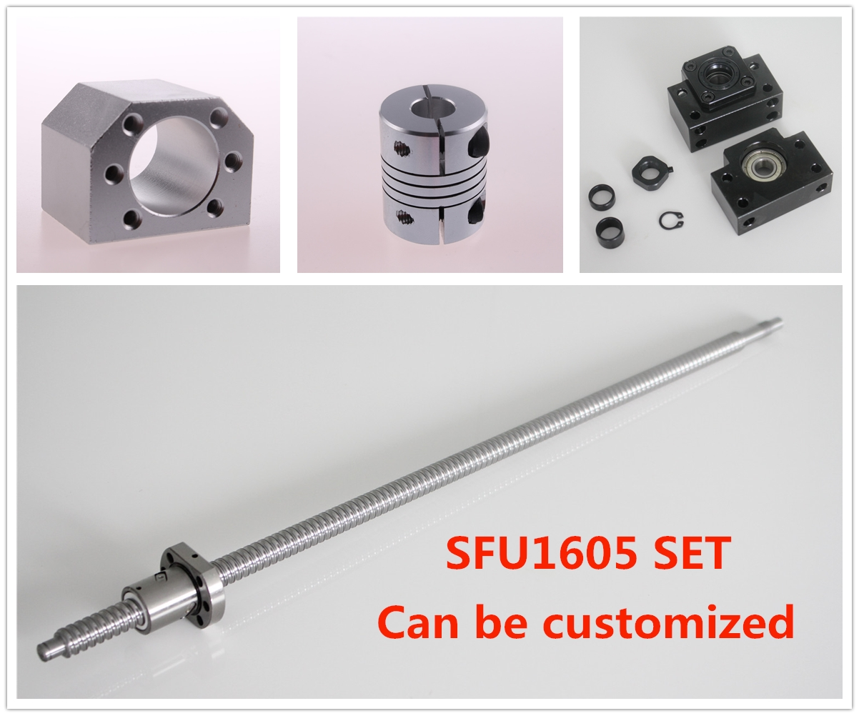 SFU1605 set Ball Screw C7 end machined + 1605 Ball Nut + Nut Housing+BK/BF12 End Support + Coupler RM1605 цена 2017