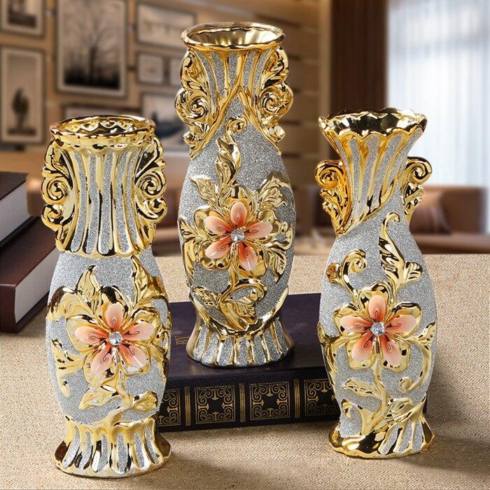 Цзиндэчжэнь керамические декоративные вазы домашней обстановки Европейской маленькие украшения ремесла покрытием матовый ТВ кабинета