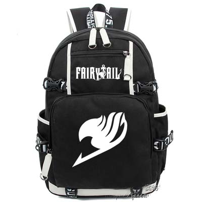 Fashion Canvas Bag Luminous Schoolbag Anime FAIRY TAIL Backpack Cosplay Travel Bags anime tokyo ghoul dark in light luminous satchel backpack schoolbag shoulder bag boys gilrs cosplay gifts