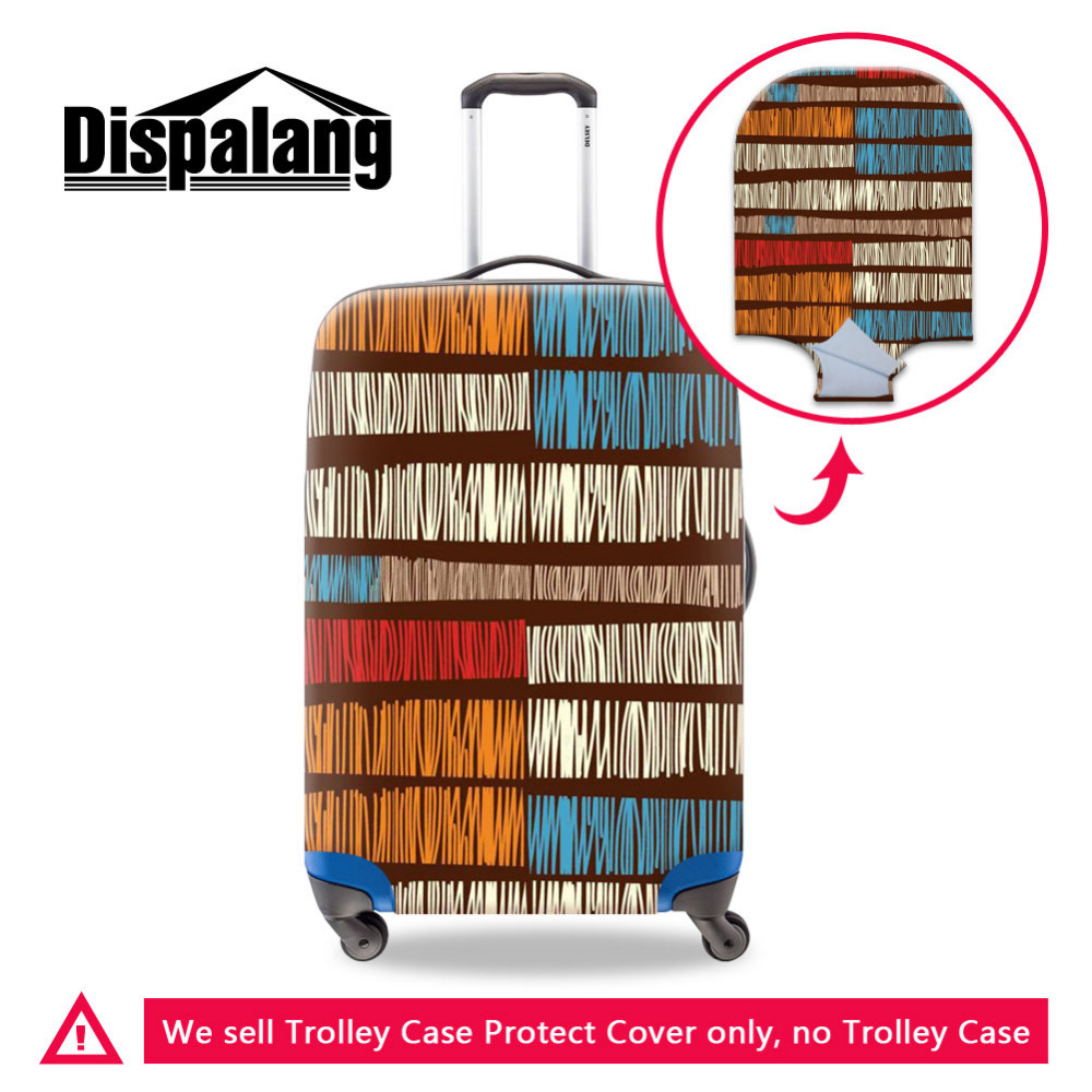 Dispalang Travel Accessories Elastic Suitcase Protective Covers Striped National Style Luggage Cover Womens Trolley Case Cover