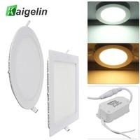 2 PCS Lot Kaigelin 18W LED Panel Ceiling Light Square Round Type Surface Mounted LED Panels
