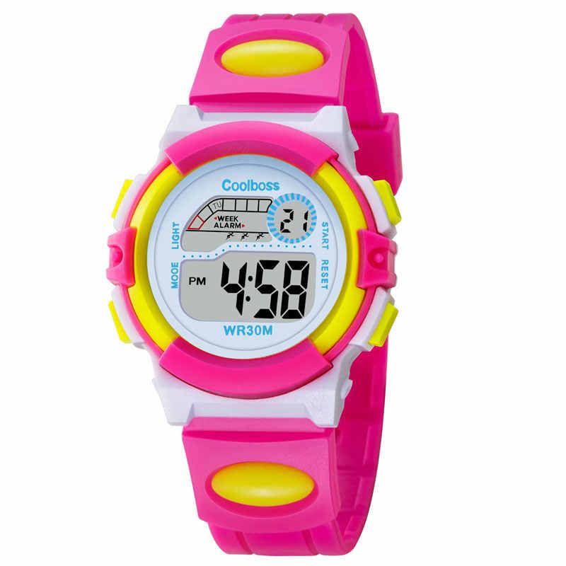 New Small Sport Students Children Watch Kids Watches Boys Girls Clock Child Electronic  LED Digital Wrist f821e402030e