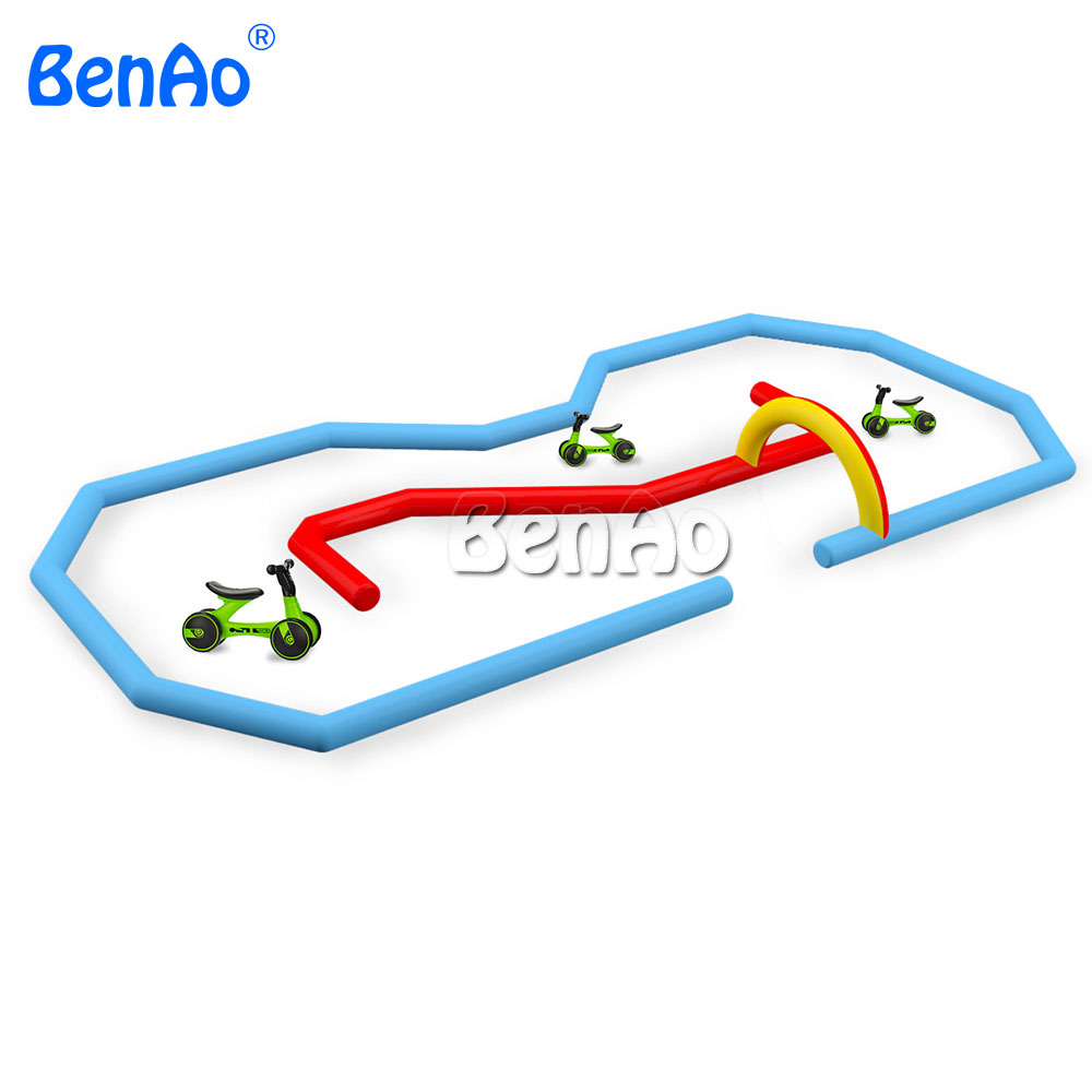 AA159 Inflatable race track, Inflatable go kart track, inflatable sport games for bike,kids toy outdoor cars race track for sale go games word search