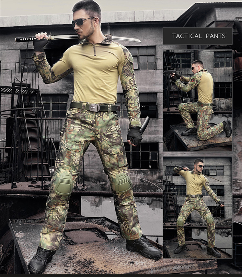 Hunting Gen2 Combat Uniform Suit Multicam Army Shirt & Pants with elbow & knee pads For Military Paintball Woodland Wargame military uniform multicam army combat shirt uniform tactical pants with knee pads camouflage suit hunting clothes