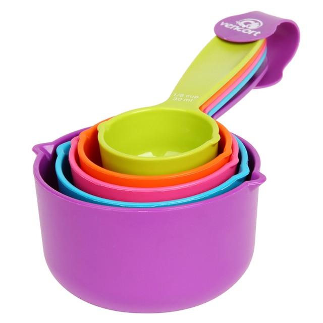 super utile color 5 pcs cuisine colourworks cuillres mesurer tasses mesurer cuillre tasse de cuisson ustensile set kit outils de mesure - Ustensile Utile