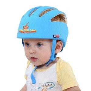 Image 2 - Bebê capacete de proteção de segurança capacete para bebês menina algodão infantil proteção chapéus crianças boné para meninos meninas infantil