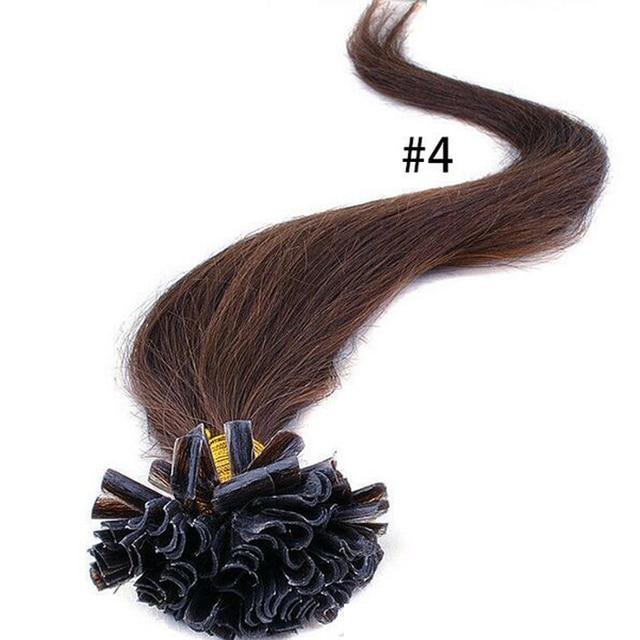 100 Pcs Keratin Nail Tip Rebonded Hair Extensions Keratin Bonding