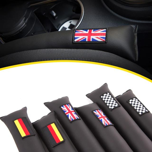 2pcs Universal Car Seat Gap Filler PU Leather Auto Seat Leak Stop For Mini Cooper One Countryman Clubman R55 R56 F55 Accessories