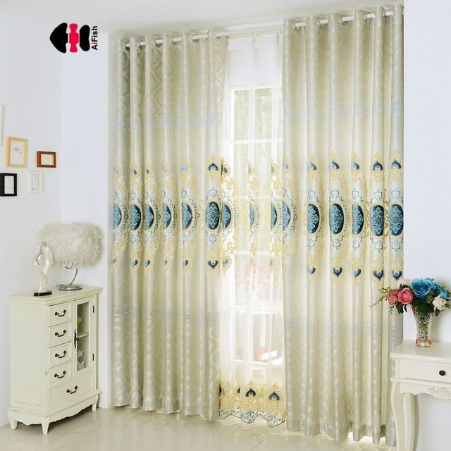 European Clical Velvet Embroidered Flower Blinds Luxury Chenille Wedding Bedroom Nursery Window Treatment D Gauze Wp326c