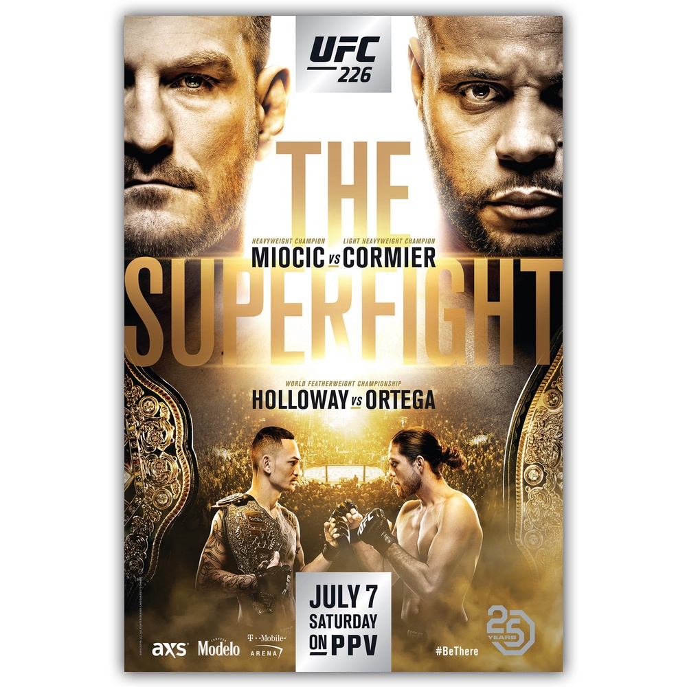 US $5 77 32% OFF|UFC 226 Poster Holloway VS Ortega MMA Event Movie Wall Art  Wall Decor Silk Prints Art Poster Paintings for Living Room No Frame-in