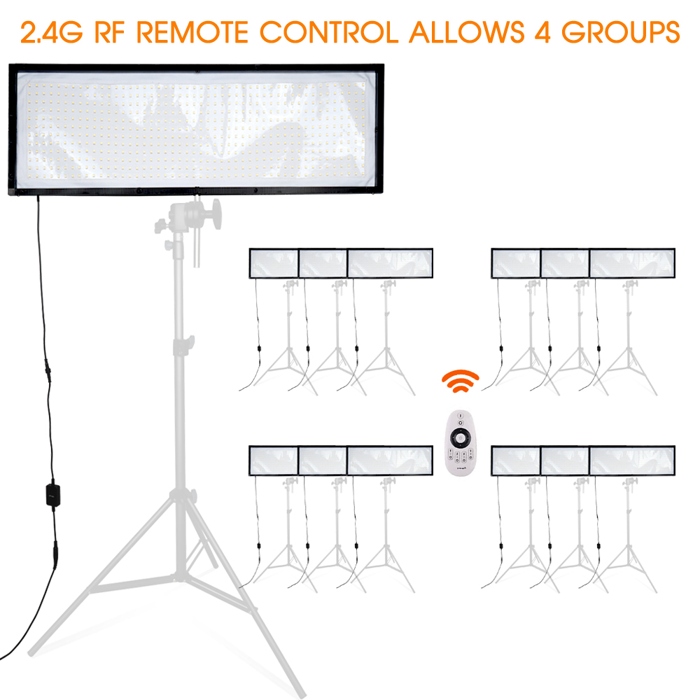 Travor FL 3090 LED Video Licht Flexibele Panel Light Dimbare Daglicht 576 PCS Studio Fotografie Licht Met 2.4G Afstandsbediening-in Fotografieverlichting van Consumentenelektronica op  Groep 2