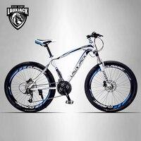 LAUXJACK Mountain Bike Steel Frame 24 Speed Shimano Mechanic Brake 26 Wheel
